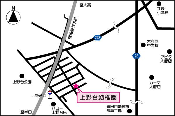 上野台幼稚園地図